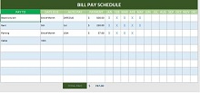 Bill Pay Chechlist Template
