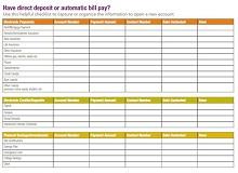 bill payment checklist excel