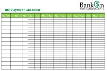 Bill Pay Checklist 06