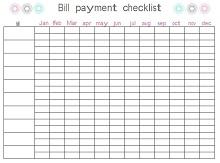 Bill Pay Checklist 11