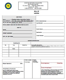 Bill of lading template 01