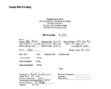 Bill of lading template 09