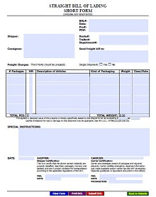 house bill of lading template