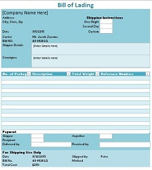 Bill of lading template 29