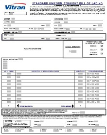 bill of lading sample format document sample