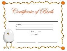 Birth certificate template 19