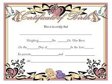 Birth certificate template 25
