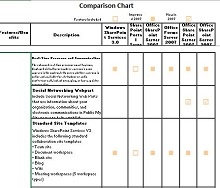 Comparison Chart Template 15