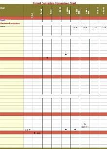 Comparison Chart Template 25