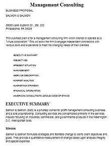 sample consulting proposal letter