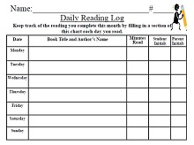Comprehensive image pertaining to printable reading logs for middle school