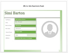 Employee profiles template