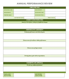 IC Annual Performance Review Template