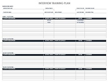 IC Employee Training Plan Template