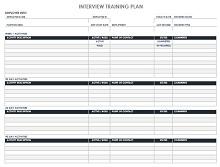 IC Employee Training Plan Template