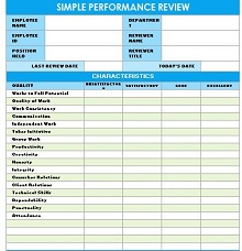 IC Simple Performance Review Template