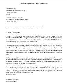 immigration letter format
