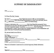 sample of immigration letter