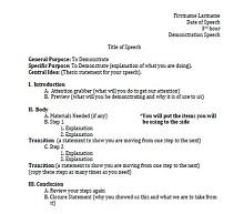 informative speech outline template example