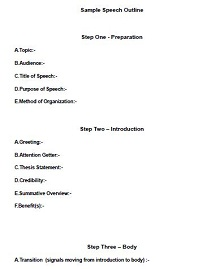 informative speech outline template