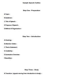 informative speech outline template