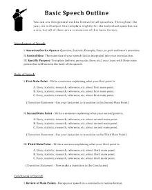 informative speech outline template word