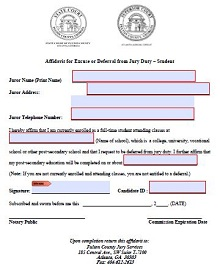 Jury duty excuse letter template 07