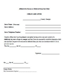 Jury duty excuse letter template 09