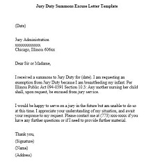 Jury duty excuse letter template 13