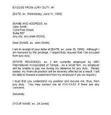 Jury duty excuse letter template 19