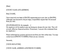 Jury duty excuse letter template 23