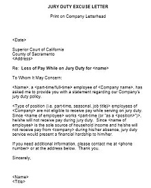 Jury duty excuse letter template 24