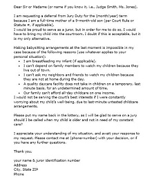 Jury duty excuse letter template 26