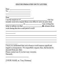 Jury duty excuse letter template 33