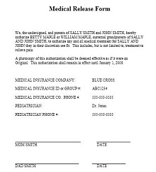 medical release of information form template