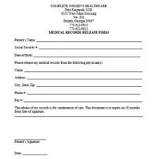 general medical release form