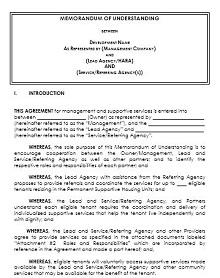 Memorandum of Understanding Template 27