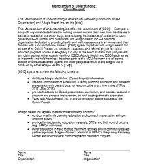 Memorandum of Understanding Template 29