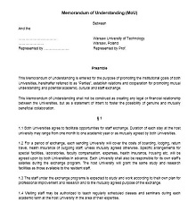Memorandum of Understanding Template 31