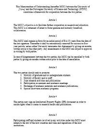 Memorandum of Understanding Template 36