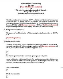 memorandum of understanding templates free