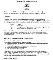 Memorandum of Understanding Template 50