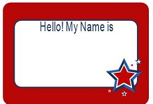 conference name tag template