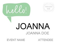 Name tag template 34