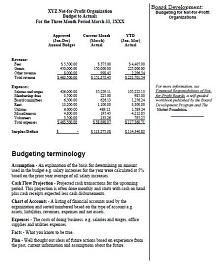 Non profit budget template 06