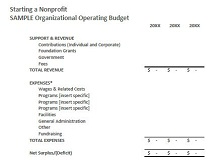 Non profit budget template 09