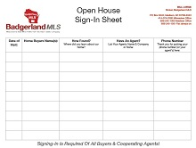 Open house sign in sheet 13