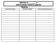 open house sign in sheet template free