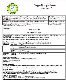 Potluck sign up sheet 12