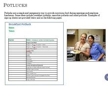 Potluck sign up sheet 16